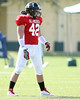 photo by Tim Casey<br /> <br /> Outside linebacker Tom Wort (Oklahoma commit) works out during the first day of practice leading up to the Under Armour All-America Game on Wednesday, December 31, 2008 at Disney's Wide World of Sports Complex in Lake Buena Vista, Fla.