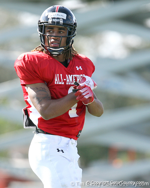 photo by Tim Casey<br /> <br /> Safety Stephon Gilmore (South Carolina commit) works out during the first day of practice leading up to the Under Armour All-America Game on Wednesday, December 31, 2008 at Disney's Wide World of Sports Complex in Lake Buena Vista, Fla.