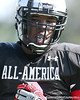 photo by Tim Casey<br /> <br /> Outside linebacker Jelani Jenkins (undecided) works out during the first day of practice leading up to the Under Armour All-America Game on Wednesday, December 31, 2008 at Disney's Wide World of Sports Complex in Lake Buena Vista, Fla.