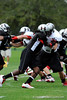 Photo by Casey Brooke Lawson<br /> <br /> FSU commitment Jacobbi McDaniel attempts to get past a blocker during the third day of practice leading up to the Under Armour All-America Game on Friday, January 2, 2009 at Disney's Wide World of Sports Complex in Lake Buena Vista, Fla.
