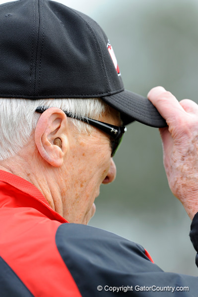 Photo by Casey Brooke Lawson<br /> <br /> Coach Marv Levy watches during the third day of practice leading up to the Under Armour All-America Game on Friday, January 2, 2009 at Disney's Wide World of Sports Complex in Lake Buena Vista, Fla.