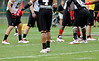Photo by Casey Brooke Lawson<br /> <br /> Safety Isaiah Bell works out during the third day of practice leading up to the Under Armour All-America Game on Friday, January 2, 2009 at Disney's Wide World of Sports Complex in Lake Buena Vista, Fla.