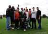Photo by Casey Brooke Lawson<br /> <br /> Members of the FHSAA Class 6A Sanford Seminole Fighting 'Noles poses for pictures after the third day of practice leading up to the Under Armour All-America Game on Friday, January 2, 2009 at Disney's Wide World of Sports Complex in Lake Buena Vista, Fla.