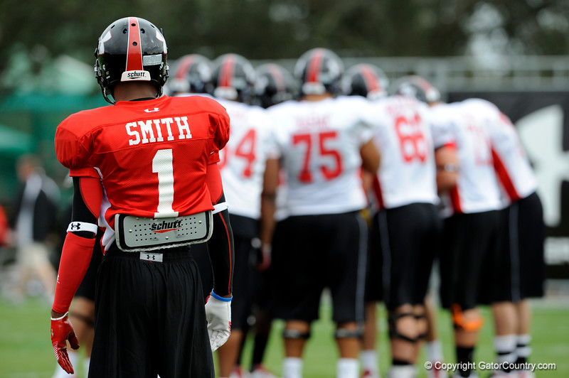 Photo by Casey Brooke Lawson<br /> <br /> Cornerback Branden Smith works out during the third day of practice leading up to the Under Armour All-America Game on Friday, January 2, 2009 at Disney's Wide World of Sports Complex in Lake Buena Vista, Fla.