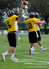 Photo by Casey Brooke Lawson<br /> <br /> USC commit Matt Barkley warms up before the third day of practice leading up to the Under Armour All-America Game on Friday, January 2, 2009 at Disney's Wide World of Sports Complex in Lake Buena Vista, Fla.