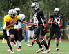Photo by Casey Brooke Lawson<br /> <br /> LSU commitment Russell Shepard scrambles away from Ray Ray Armstrong during the third day of practice leading up to the Under Armour All-America Game on Friday, January 2, 2009 at Disney's Wide World of Sports Complex in Lake Buena Vista, Fla.