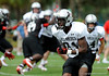 Photo by Casey Brooke Lawson<br /> <br /> Stanford commitment Jamal Patterson runs a route during the third day of practice leading up to the Under Armour All-America Game on Friday, January 2, 2009 at Disney's Wide World of Sports Complex in Lake Buena Vista, Fla.