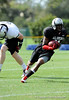 Photo by Casey Brooke Lawson<br /> <br /> Maryland commitment Travis Hawkins tries to avoid a defender during the third day of practice leading up to the Under Armour All-America Game on Friday, January 2, 2009 at Disney's Wide World of Sports Complex in Lake Buena Vista, Fla.