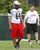 photo by Tim Casey<br /> <br /> Team Click-Clack offensive tackle Antoine McClain (Anniston, Ala. - no commitment) works out at the first day of practice for the Under Armour All-America High School Football Game on Monday, December 31, 2007 at Disney's Wide World of Sports Complex in Lake Buena Vista, Fla. The game will be played on Jan. 5, 2008.