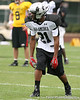 photo by Tim Casey<br /> <br /> Team Click-Clack wide receiver Chris Tolliver (Rayville, La. - LSU commitment) works out at the first day of practice for the Under Armour All-America High School Football Game on Monday, December 31, 2007 at Disney's Wide World of Sports Complex in Lake Buena Vista, Fla. The game will be played on Jan. 5, 2008.