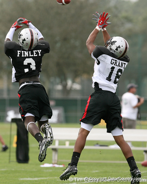 photo by Tim Casey<br /> <br /> Team Click-Clack safety Dee Finley (Auburn, Ala. - Florida commitment) works out at the first day of practice for the Under Armour All-America High School Football Game on Monday, December 31, 2007 at Disney's Wide World of Sports Complex in Lake Buena Vista, Fla. The game will be played on Jan. 5, 2008.