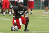 photo by Tim Casey<br /> <br /> An unidentified member of Team Click-Clack works out at the first day of practice for the Under Armour All-America High School Football Game on Monday, December 31, 2007 at Disney's Wide World of Sports Complex in Lake Buena Vista, Fla. The game will be played on Jan. 5, 2008.