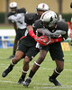 photo by Tim Casey<br /> <br /> Team Undeniable wide receiver Aldarius Johnson (Miami - Miami commitment) works out at the first day of practice for the Under Armour All-America High School Football Game on Monday, December 31, 2007 at Disney's Wide World of Sports Complex in Lake Buena Vista, Fla. The game will be played on Jan. 5, 2008.
