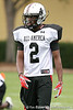 photo by Tim Casey<br /> <br /> Team Click-Clack wide receiver Deion Walker (Christchurch, Va. - no commitment) works out at the first day of practice for the Under Armour All-America High School Football Game on Monday, December 31, 2007 at Disney's Wide World of Sports Complex in Lake Buena Vista, Fla. The game will be played on Jan. 5, 2008.