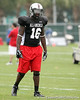 photo by Tim Casey<br /> <br /> Team Click-Clack outside linebacker Nigel Carr (Jacksonville - Florida State commitment) works out at the first day of practice for the Under Armour All-America High School Football Game on Monday, December 31, 2007 at Disney's Wide World of Sports Complex in Lake Buena Vista, Fla. The game will be played on Jan. 5, 2008.