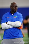 Florida Gators defensive line coach Chris Rumph as the Gators host their annual Friday Night Lights camp at Ben Hill Griffin Stadium and Indoor Practice Facility.  July 22nd, 2016.  Gator Country Photo by David Bowie.