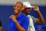 Former Florida Gators quarterback Chris Leak flashes a smile as the Gators host their annual Friday Night Lights camp at Ben Hill Griffin Stadium and Indoor Practice Facility.  July 22nd, 2016.  Gator Country Photo by David Bowie.