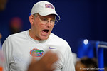 Florida Gators offensive line coach Mike Summers coaching up high school recruits as the Gators host their annual Friday Night Lights camp at Ben Hill Griffin Stadium and Indoor Practice Facility.  July 22nd, 2016.  Gator Country Photo by David Bowie.