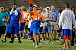 Florida Gators quarterback commit Jake Allen throws downfield as the Gators host their annual Friday Night Lights camp at Ben Hill Griffin Stadium and Indoor Practice Facility.  July 22nd, 2016.  Gator Country Photo by David Bowie.