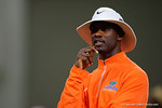 Florida Gators defensive backs coach Torrian Gray watches on as the Gators host their annual Friday Night Lights camp at Ben Hill Griffin Stadium and Indoor Practice Facility.  July 22nd, 2016.  Gator Country Photo by David Bowie.