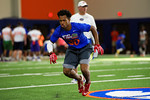 Florida Gators recruit Shaun Shamburger poses for the camera as the Gators host their annual Friday Night Lights camp at Ben Hill Griffin Stadium and Indoor Practice Facility.  July 22nd, 2016.  Gator Country Photo by David Bowie.