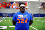 Florida Gators recruit Timaje Porter poses for the camera as the Gators host their annual Friday Night Lights camp at Ben Hill Griffin Stadium and Indoor Practice Facility.  July 22nd, 2016.  Gator Country Photo by David Bowie.