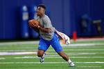 Florida Gators defensive back Chauncey Gardner running through drills as the Gators host their annual Friday Night Lights camp at Ben Hill Griffin Stadium and Indoor Practice Facility.  July 22nd, 2016.  Gator Country Photo by David Bowie.