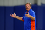 Florida Gators head coach Jim McElwain greets the plaers attending the camp and welcomes them to the University of Florida as the Gators host their annual Friday Night Lights camp at Ben Hill Griffin Stadium and Indoor Practice Facility.  July 22nd, 2016.  Gator Country Photo by David Bowie.
