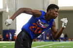 University of Florida Gators recruits, commits and high school players from across the nation compete as the Gators host their annual Friday Night Lights camp at Ben Hill Griffin Stadium and Indoor Practice Facility.  July 22nd, 2016.  Gator Country Photo by David Bowie.