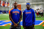 Florida Gators recruit Daquon Green watches on as the Gators host their annual Friday Night Lights camp at Ben Hill Griffin Stadium and Indoor Practice Facility.  July 22nd, 2016.  Gator Country Photo by David Bowie.