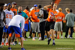 Florida Gators 2018 quarterback recruit Artur Sitkowski throwing during 1-on-1 drills as the Gators host their annual Friday Night Lights camp at Ben Hill Griffin Stadium and Indoor Practice Facility.  July 22nd, 2016.  Gator Country Photo by David Bowie.