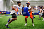 Florida Gators recruit Adarius Lemons  competing in drills as the Gators host their annual Friday Night Lights camp at Ben Hill Griffin Stadium and Indoor Practice Facility.  July 22nd, 2016.  Gator Country Photo by David Bowie.