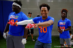 Florida Gators recruit Shaun Shamburger dancing up the sideline as the Gators host their annual Friday Night Lights camp at Ben Hill Griffin Stadium and Indoor Practice Facility.  July 22nd, 2016.  Gator Country Photo by David Bowie.