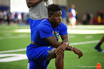 Florida Gators wide receiver Brandon Powell watches on as the Gators host their annual Friday Night Lights camp at Ben Hill Griffin Stadium and Indoor Practice Facility.  July 22nd, 2016.  Gator Country Photo by David Bowie.