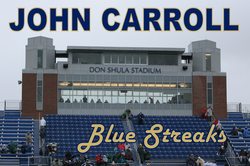 Don Shula Stadium is located on the campus of John Carroll University.  John Carroll is home to The Blue Streaks in University Heights, Ohio.  Don Shula, famous Miami Dolphins and Baltimore Colts Head Football Coach, graduated from John Carroll.