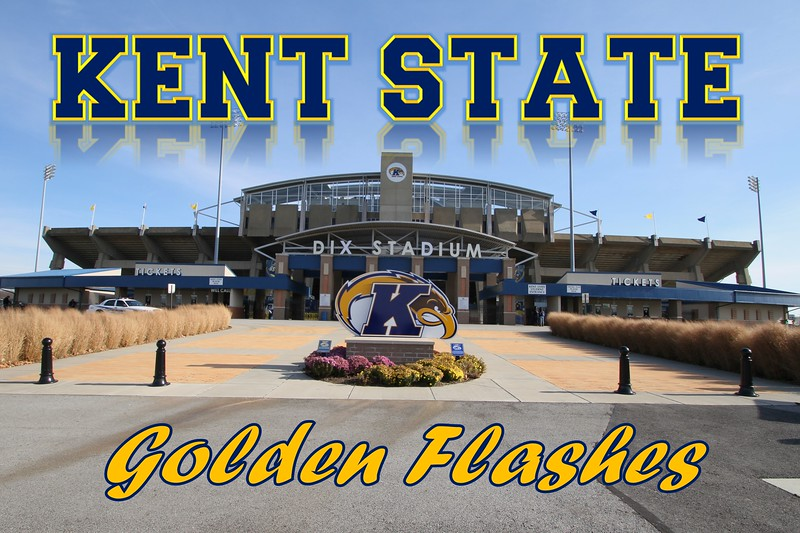 Kent State University is located in Kent, Ohio.  Dix Stadium is home to the Kent State Golden Flashes - Saturday, November 19, 2011