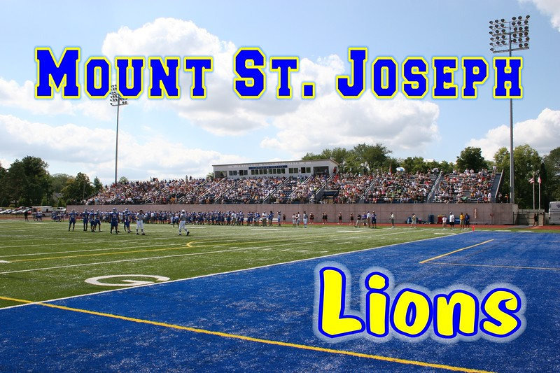 The College of Mount St. Joseph is located in Cincinnati, Ohio, and home to the Mount St. Joseph Lions.  There are stands on one side of the field only.  (September 6, 2008)