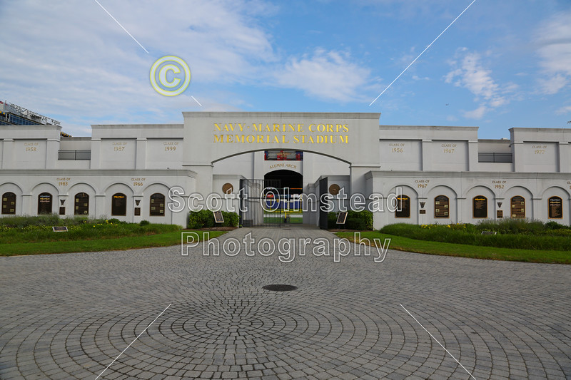 The Navy Marine Corps Memorial Stadium is located in Annapolis, Maryland, and home to the Navy Midshipmen.  Without any doubt, it is one of the finest football stadiums that I have ever had the pleasure of visiting, very impressive.