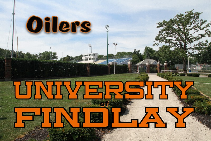 Findlay Ohio's Donnell Stadium used by both the University of Findlay Oilers and the Findlay High School Trojans.  (Not located on the University of Findlay campus.)
