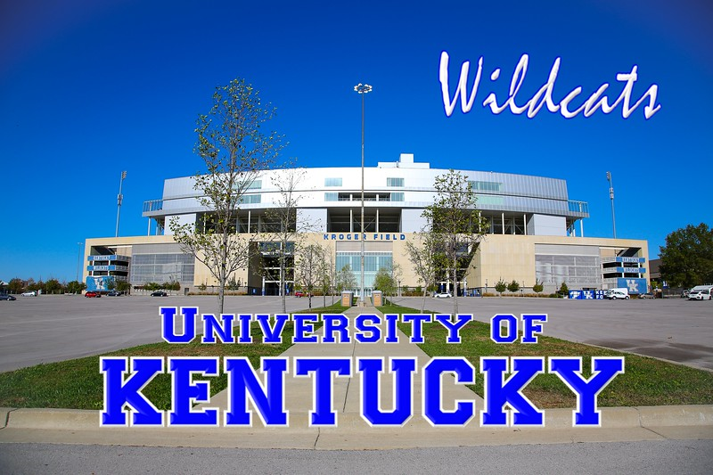 Kroger Field is Located on the Campus of the University of Kentucky in Lexington, Kentucky, and Home to the Kentucky Wildcats - (The Stadium was locked up tight - Sunday, October 27, 2019)