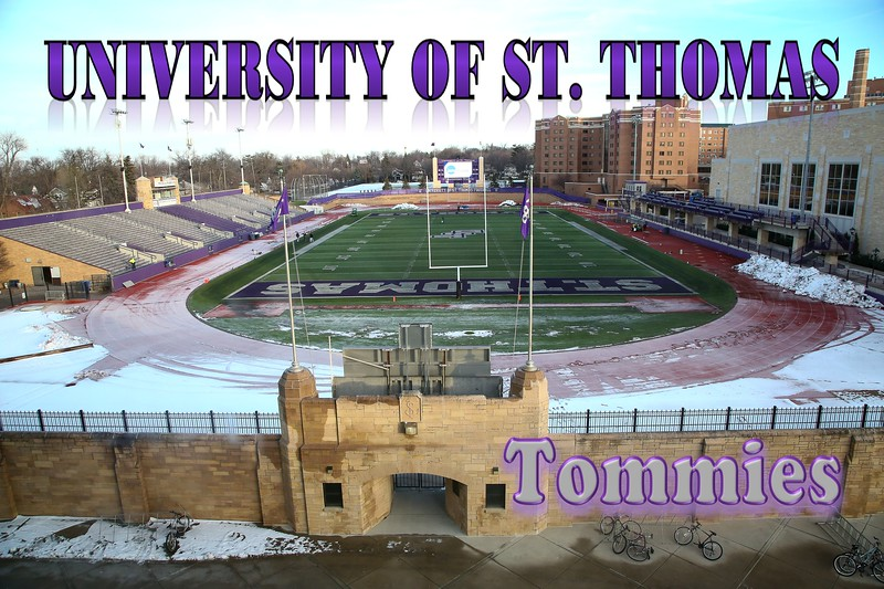 The University of St. Thomas Football Stadium is located on Campus and Home to the St. Thomas Tommies (December 05, 2015)