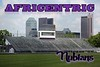 Africentric High School is located in Downtown Columbus, Ohio, and home to the Africentric Nubians - Friday, June 27, 2014  (The Stadium was locked up tight)