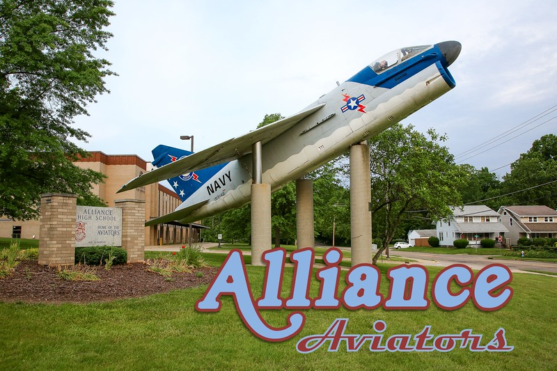 Alliance High School is located in Alliance, Ohio, and is Home to the Aviators.  The Alliance Aviators play their football games at nearby University of Mount Union.  (Sunday, June 4, 2017)