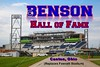 (Tom) Benson Hall of Fame Stadium is located in Canton, Ohio, and is the replacement for previous Fawcett Stadium.  Benson Stadium is Home to Local Area High Schools and Ohio High School State Championship Football Games. It is also the home stadium for local Colleges and Universities and the Division III National Championship Stagg Bowl in 2018. Benson Hall of Fame Stadium also plays host to the Annual Professional Football Hall of Fame Game played every August.  The Pro Football Hall of Fame is located directly north of the stadium. (2017)