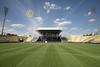 View from the fifty-yard line.  The Columbus Crew Stadium is actually the home of the Columbus, Ohio, MSL (soccer) team.  Often high school football games are also hosted in Crew Stadium.
