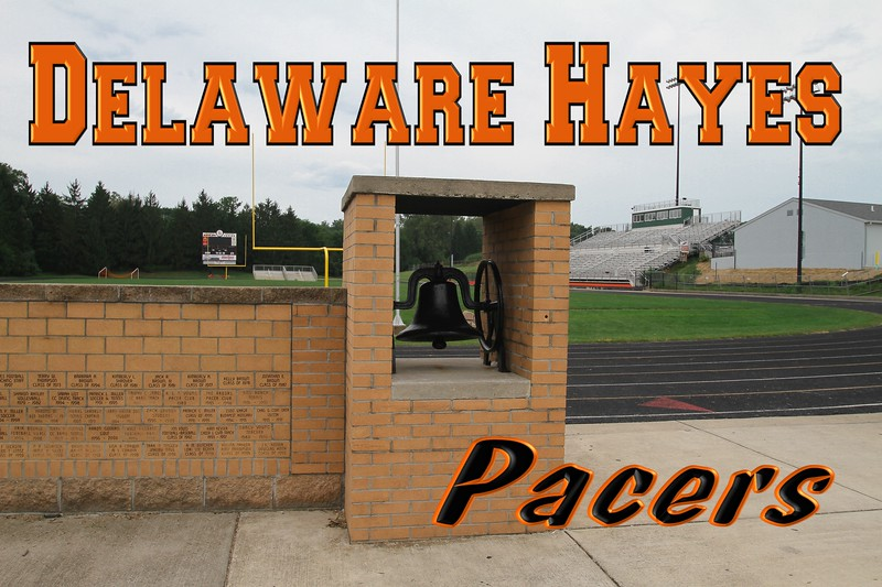 Delaware Hayes High School located in Delaware, Ohio, and home of the Pacers.  Delaware is where the world famous annual Little Brown Jug harness racing event is held, thus the Pacers.