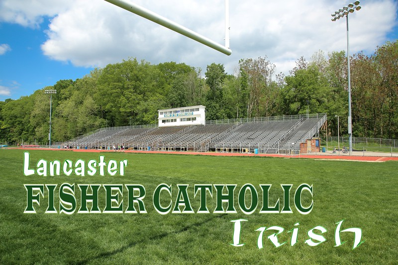 Fisher Catholic High School Irish  is located in Lancaster, Ohio, and play their games on Lancaster Fulton Field (Friday, May 13, 2016)