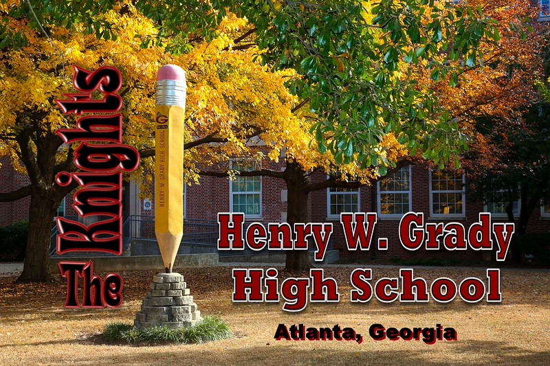 Henry W. Grady High School is Located in Atlanta, Georgia, and Home to the Knights (Unfortunately Locked Up)  (November 24, 2016)