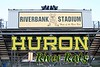 Riverbank Stadium is located on the Campus of Huron High School which is in Ann Arbor, Michigan.  Riverbank Stadium and Huron High School are Home to the River Rats -July 25, 2010   (The Stadium was locked up tight)