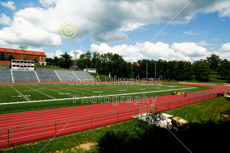 John Glenn High School is located in New Concord, Ohio -  John Glenn High School Muskies - John Glenn play their home games at McConagha Stadium / Sherman Field located just a few miles away on the campus of Muskingum University